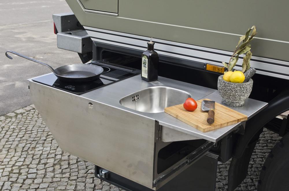 Außenküche Mit Spüle : OutdoorkÜche aussenkÜche mit gasgrill spüle schränke arbeitsplatz